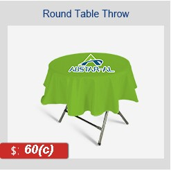"ROUND Tablecloth 43"" H x 31.5"" D"
